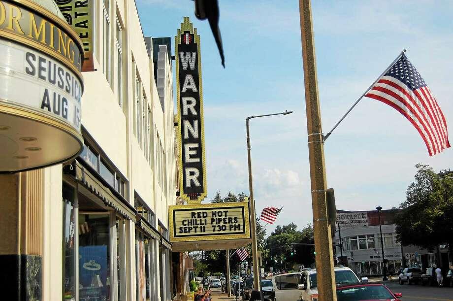 The Warner Theatre on Main Street in Torrington. Photo: Jenny Golfin — Register Citizen