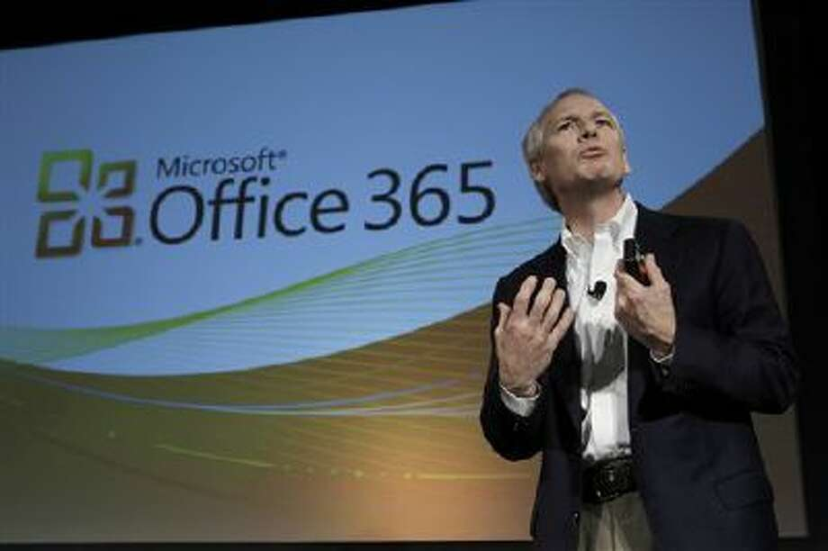 Kurt DelBene, President of the Microsoft Office Division, talks about Microsoft Office 365 at a news conference in San Francisco, Tuesday, Oct. 19, 2010. (AP Photo/Paul Sakuma) Photo: AP / AP