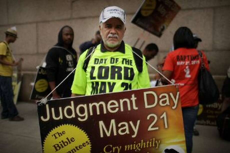 Osvaldo Colon, one of Harold Camping's followers in 2011. Photo: Getty Images / 2011 Getty Images