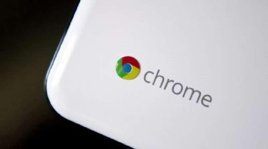 Google Inc. Chrome's logo is seen on a Chromebook.