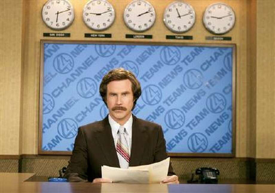 """This 2004 file photo originally released by Paramount Pictures shows Will Ferrell as anchorman Ron Burgundy in """"Anchorman: The Legend of Ron Burgundy."""" Photo: AP / DREAMWORKS PICTURES"""