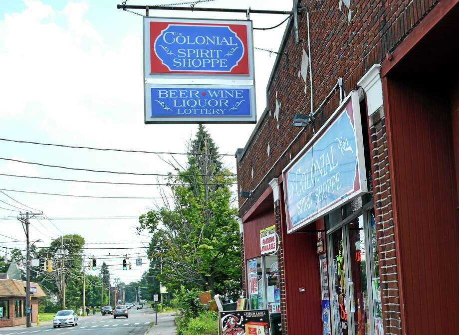 The Colonial Spirit Shoppe, located at 208 South Main St. in Torrington. Photo: Jenny Golfin — The Register Citizen