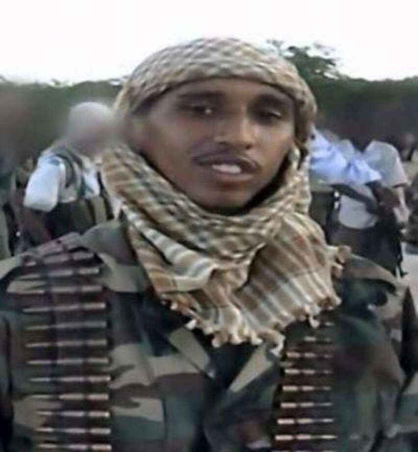 A man identified as Mohamud Hassan is featured in a new al-Shabaab recruitment video posted to YouTube Thursday, August 8, 2013. Hassan is allegedly one of three Minneapolis men in the video who traveled to Somalia and died fighting there.