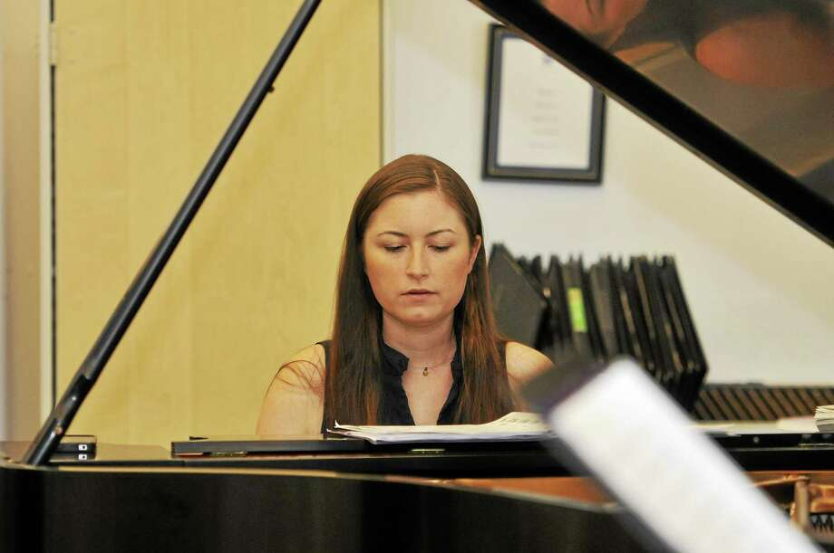 Laurie Gaboardi - The Register Citizen Carmen Staaf rehearses Friday at the Litchfield Jazz Camp in New Milford. Staaf, a camp faculty member, is making her Litchfield Jazz Festival performance debut this weekend. Photo: Journal Register Co.