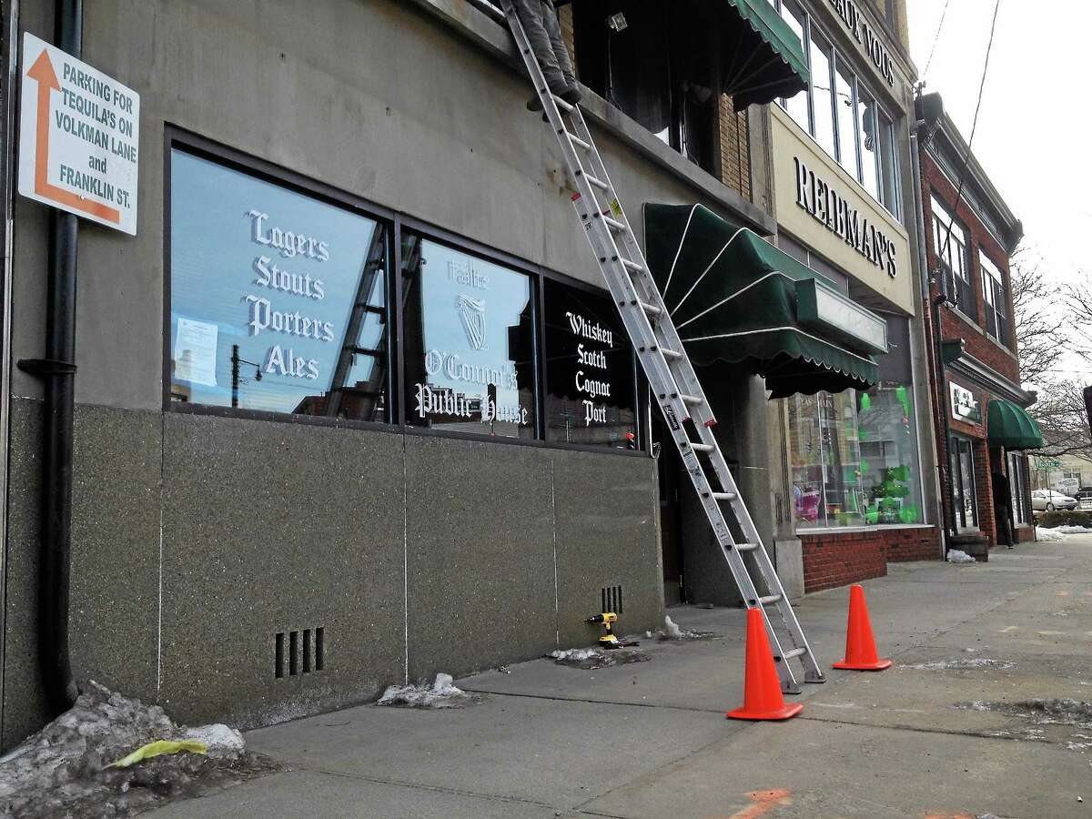 Renovations continue at O'Connor's Public House, an Irish pub, as seen on March 7 at 26 East Main St. in Torrington.