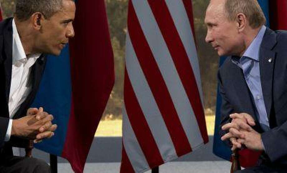 President Barack Obama meets with Russian President Vladimir Putin in Enniskillen, Northern Ireland, June 17. Photo: ASSOCIATED PRESS / THE ASSOCIATED PRE2013