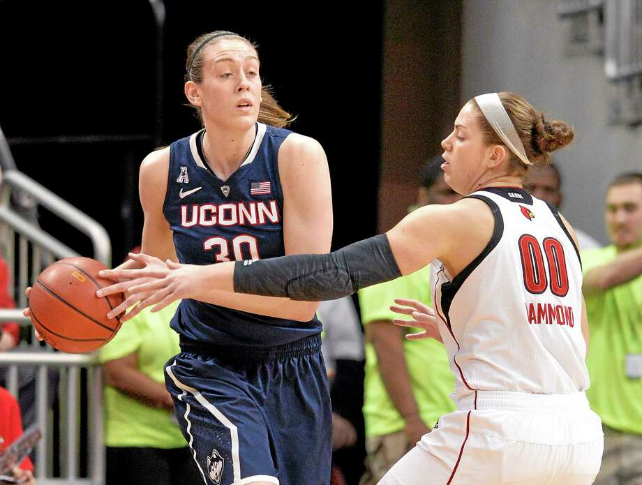 UConn's Breanna Stewart, left, was named the AAC player of the year on Friday. Photo: Timothy D. Easley — The Associated Press  / FR43398 AP