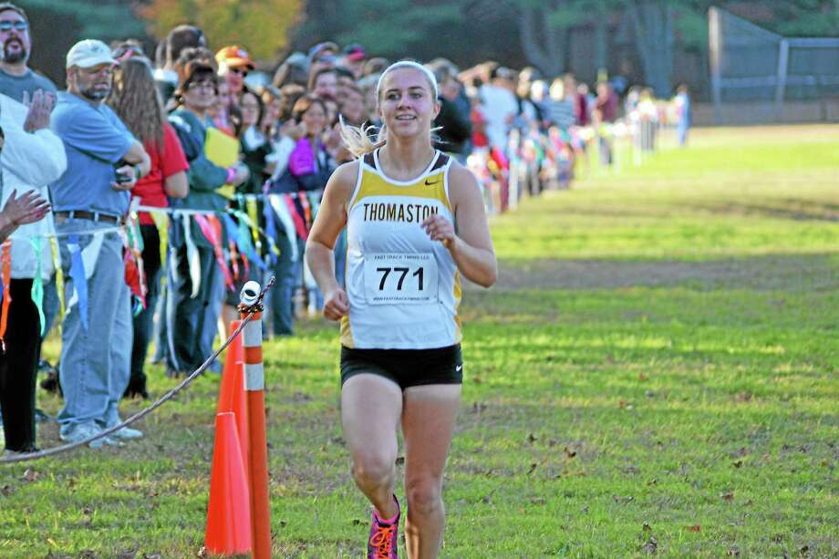 For the second year in a row Sabrina Olsen won the Berkshire League title. Olsen will continue her career at Syracuse University next fall. Photo: Pete Paguaga — Register Citizen