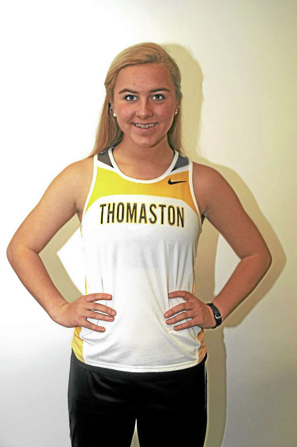 Sabrina Olsen – MVP Thomaston Sr. Stats: Finished in first place at the Berkshire League Championship meet in 2012 and 2013. State Champion in 2010. Honors: Four-time All-State (2010-2011-2012-2013), Three-time All-New England (2010-2011-2012) Four-time All-Berkshire League (2010-2011-2012-2013). Off the track: Will continue her career at Syracuse University.