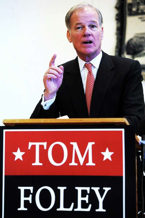 Tom Foley of Greenwich announces he will run for the Republican nominee for governor, at the Wheeler Young VFW Post 201 in Waterbury in January 2014. Photo: Mara Lavitt — New Haven Register  / Mara Lavitt
