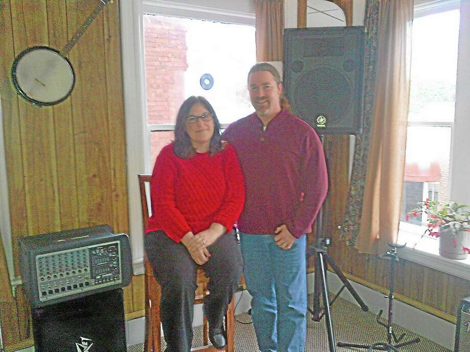 Jay and Kris Roberts in the space to be used by the Performance Hub at 79 Main St. in Torrington. Photo: Gayla Cawley—For The Register Citizen