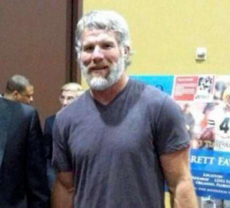 Former Vikings quarterback Brett Favre.  (Photo from Reddit)