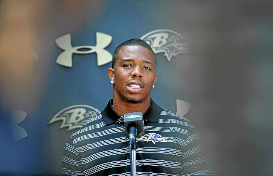 Roger Goodell defended the NFL's decision to suspend Baltimore Ravens running back Ray Rice for two games. Photo: Gail Burton — The Associated Press  / FR4095 AP