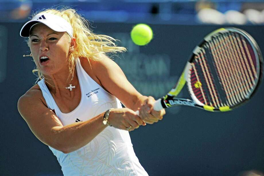 Caroline Wozniacki will look to win a record fifth Connecticut Open title later this month. Photo: Fred Beckham — The Associated Press File Photo  / FR153656 AP