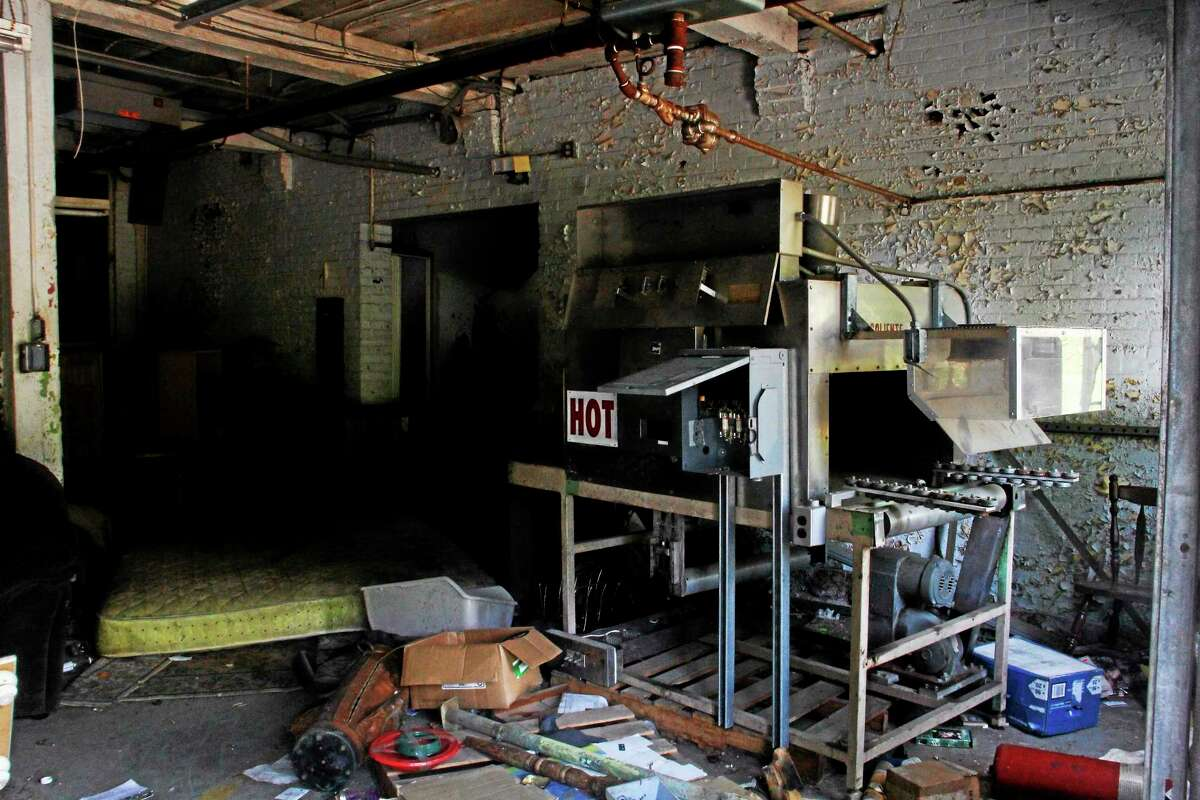 Inside the vacant Lambert Kay property in Winsted.