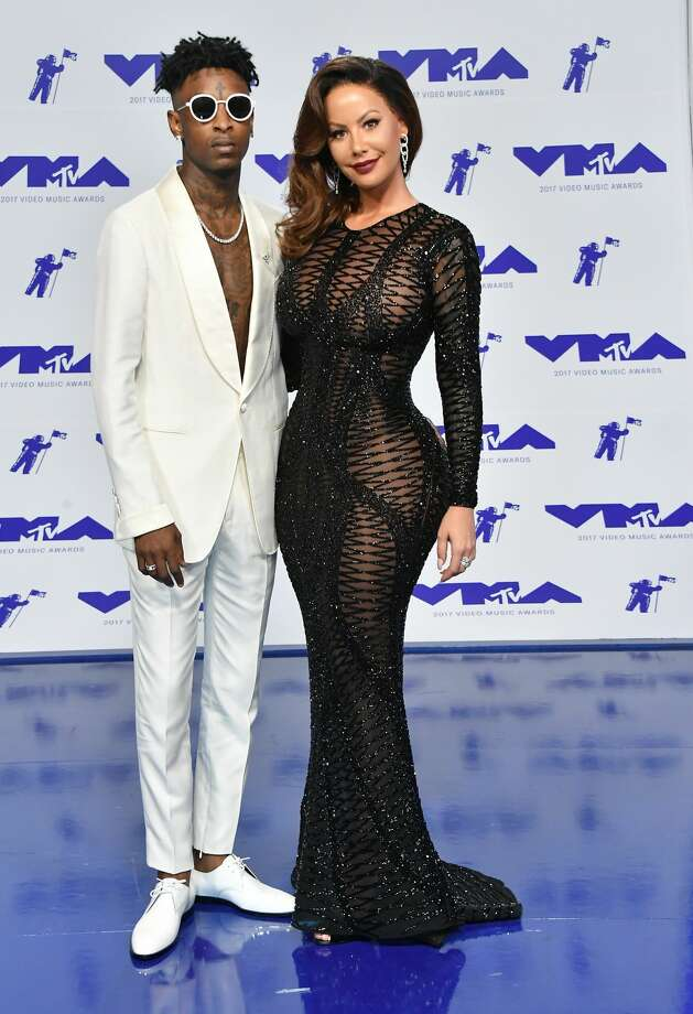 Best: Savage (L) and Amber Rose. No you aren't dreaming-this is really Amber Rose. Keep clicking to see which celebrities were named best and worst dressed of the 2017 MTV Music Video Awards.  Photo: Steve Granitz/WireImage