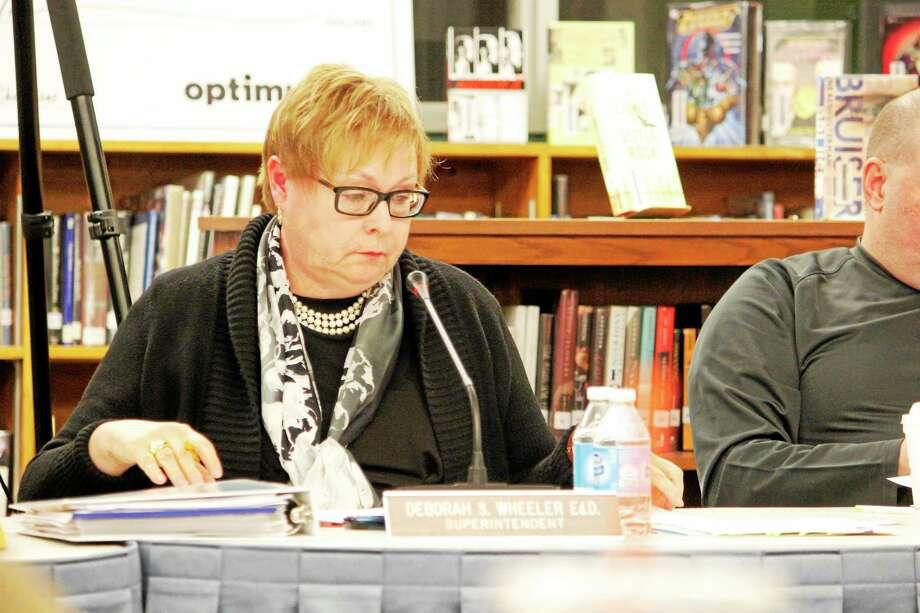 Superintendent Deborah Wheeler suggested to start the mergence of school district ball rolling. Photo: Shako Liu — Register Citizen