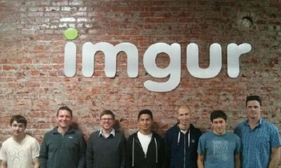 The men of the Imgur team preparing for Movember.