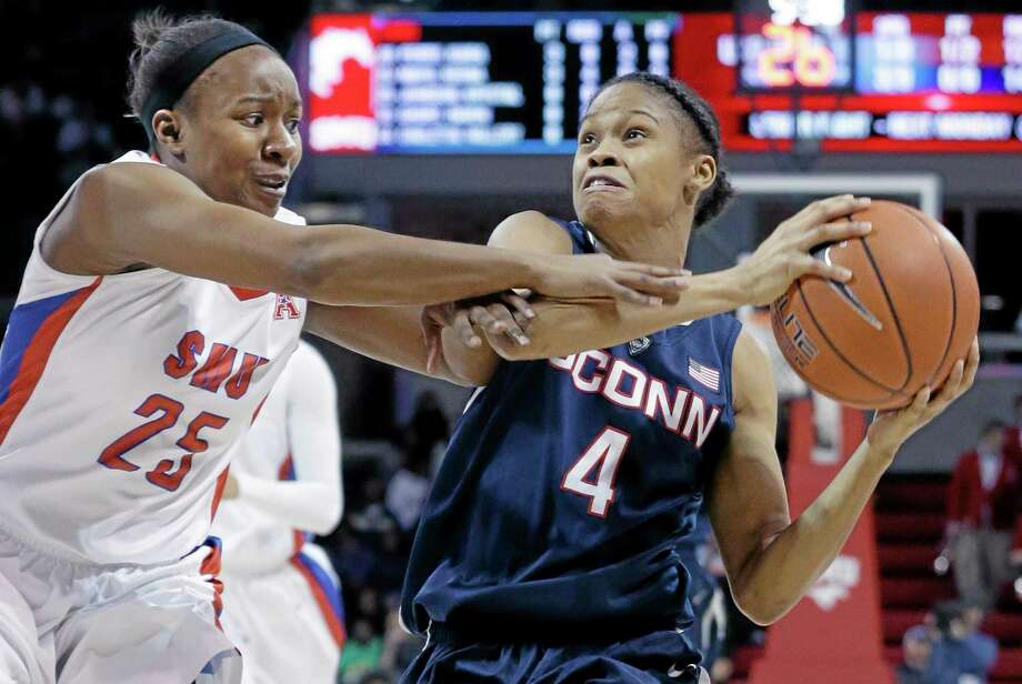UConn sophomore guard Moriah Jefferson finished the regular season as the American Athletic Conference leader in assists and field goal percentage. Photo: LM Otero — The Associated Press  / AP