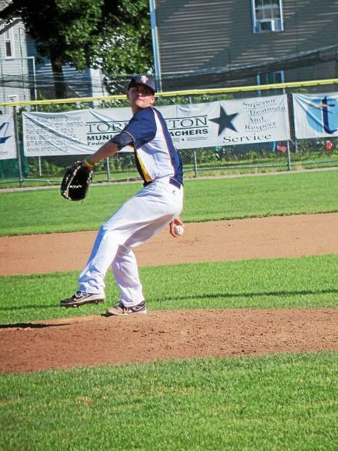 Torrington starter Matt Quintana shut out the Suns for three innings, then left in a 3-3 tie in the top of the fifth. Photo by Peter Wallace - Register Citizen