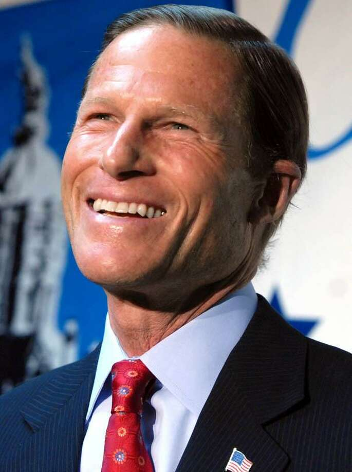 1/6/10 1BlumenthalML0595QState Democratic Headquarters, Hartford: Attorney General Richard Blumenthal during his press conference announcing that he will seek the Senate seat being vacated by Sen. Christopher Dodd. Photo by Mara Lavitt