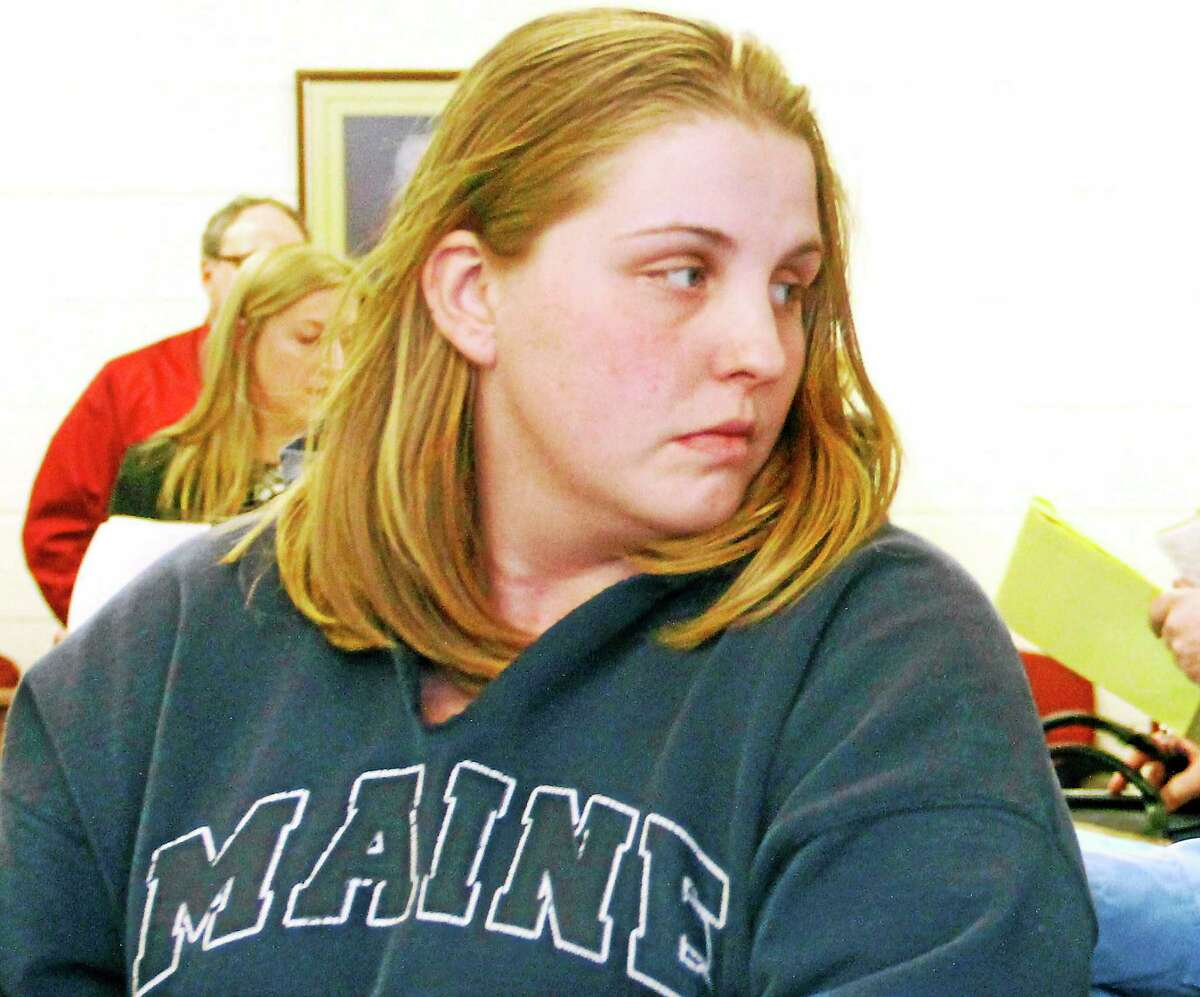 Tosha Strahan appears in Bantam Superior Court in February to face murder charges.