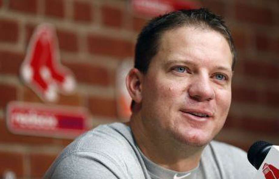 Boston Red Sox's Jake Peavy speaks during a news conference before a baseball game against the Seattle Mariners in Boston, Thursday, Aug. 1, 2013. Photo: ASSOCIATED PRESS / AP2013