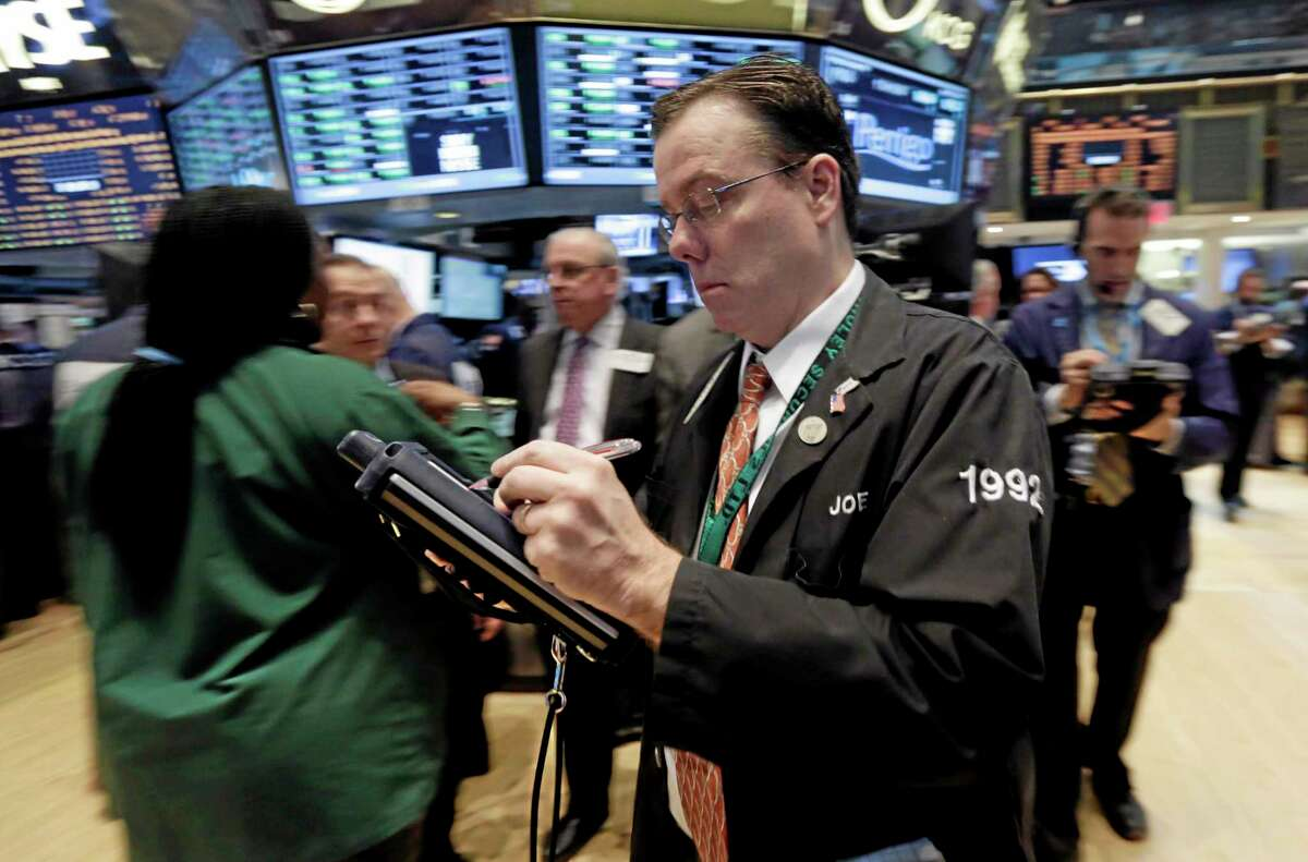 Trader Joseph Murray works on the floor of the New York Stock Exchange Tuesday.