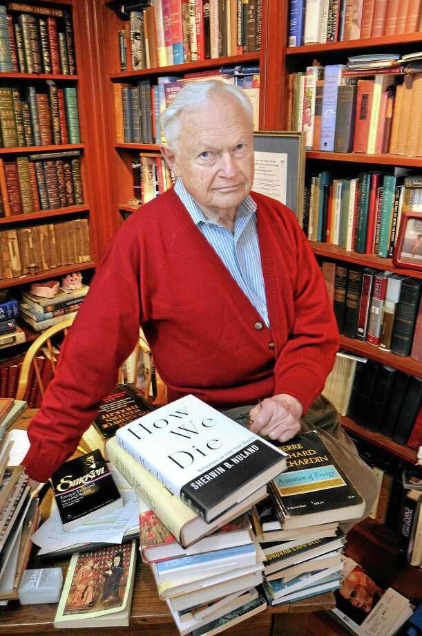 Dr. Sherwin Nuland in 2013. Photo: Mara Lavitt — New Haven Register