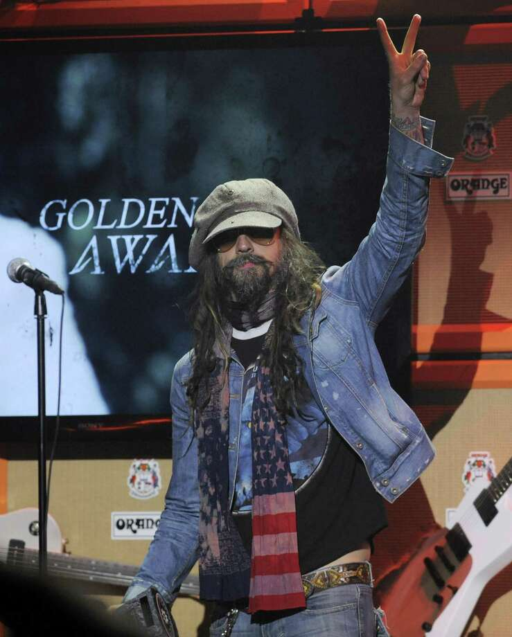 Rob Zombie accepts the Golden God Award at the 2013 Revolver Golden Gods Award Show at Club Nokia on Thursday, May 2, 2013 in Los Angeles. (Photo by Chris Pizzello/Invision/AP) Photo: Chris Pizzello/Invision/AP / AP2013