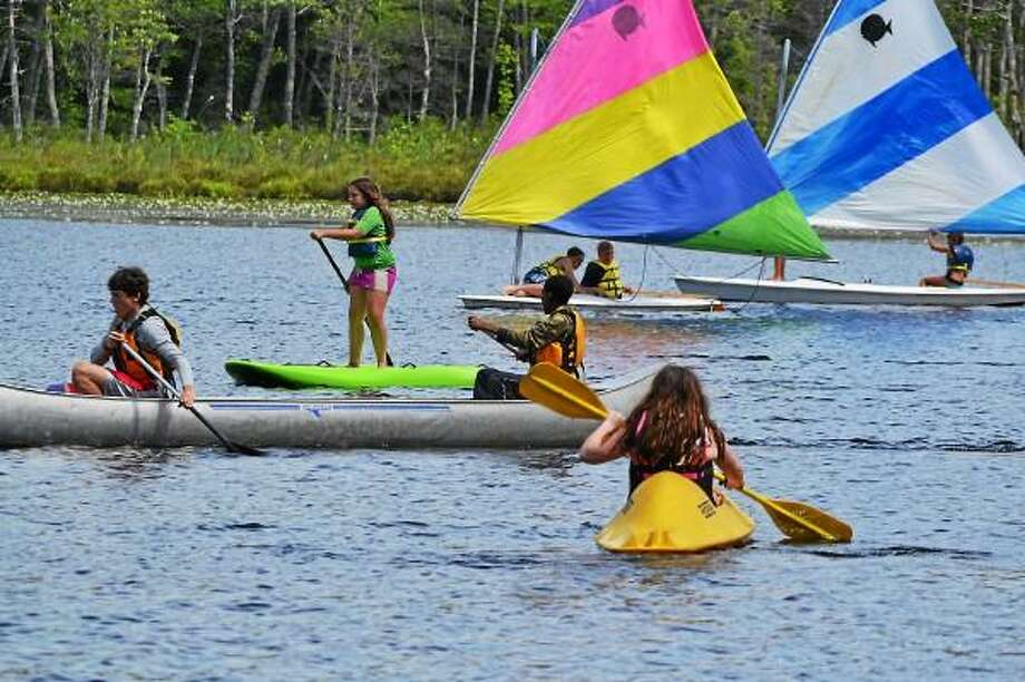 Contributed photo - Campers out on the water at Camp Wa Wa Segowea in 2012.