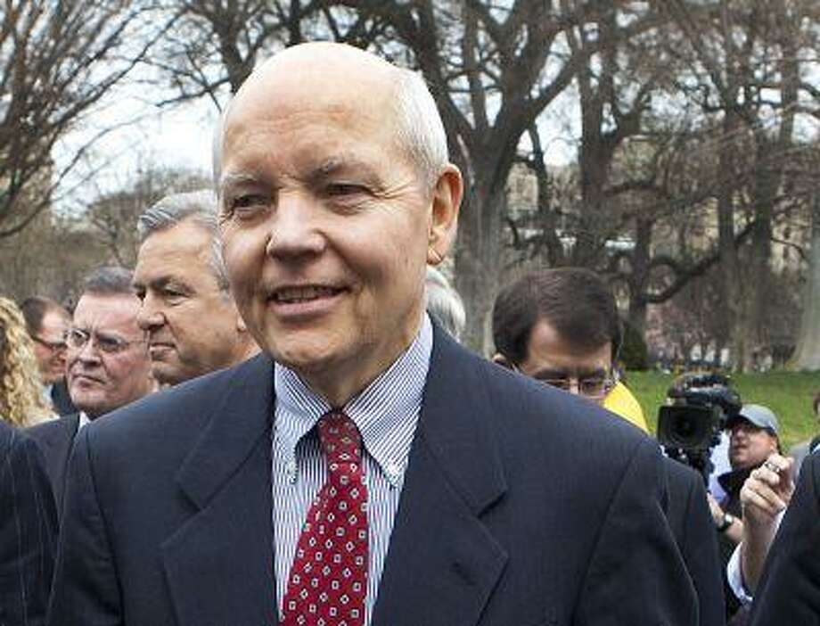 FILE - In this March 27, 2009, file photo, John Koskinen is seen outside the White House in Washington. President Barack Obama has nominated Koskinen as Internal Revenue Service (IRS) commissioner. (AP Photo/Ron Edmonds, File) Photo: AP / AP