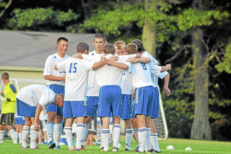 The Lewis Mills boys' soccer team in the No. 6 best team in Litchfield County from this past fall season. Photo: Pete Paguaga—Register Citizen