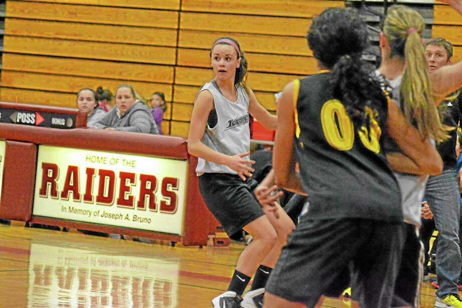 Last season as a junior, Olivia Morrison averaged 5.7 points-per-game and 5.3 rebounds-per-game. Photo: Journal Register Co.