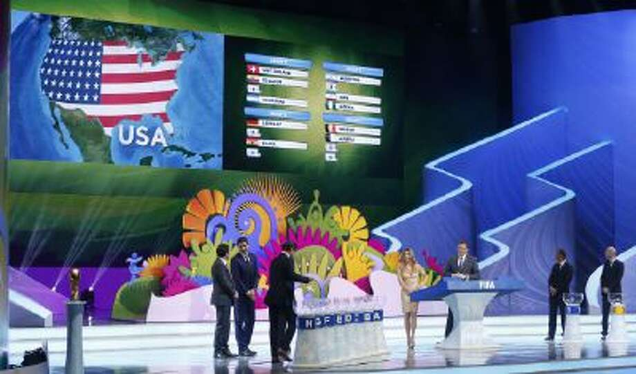 The United States' group is drawn in Brazil, putting them in the same group as Germany and Ghana.