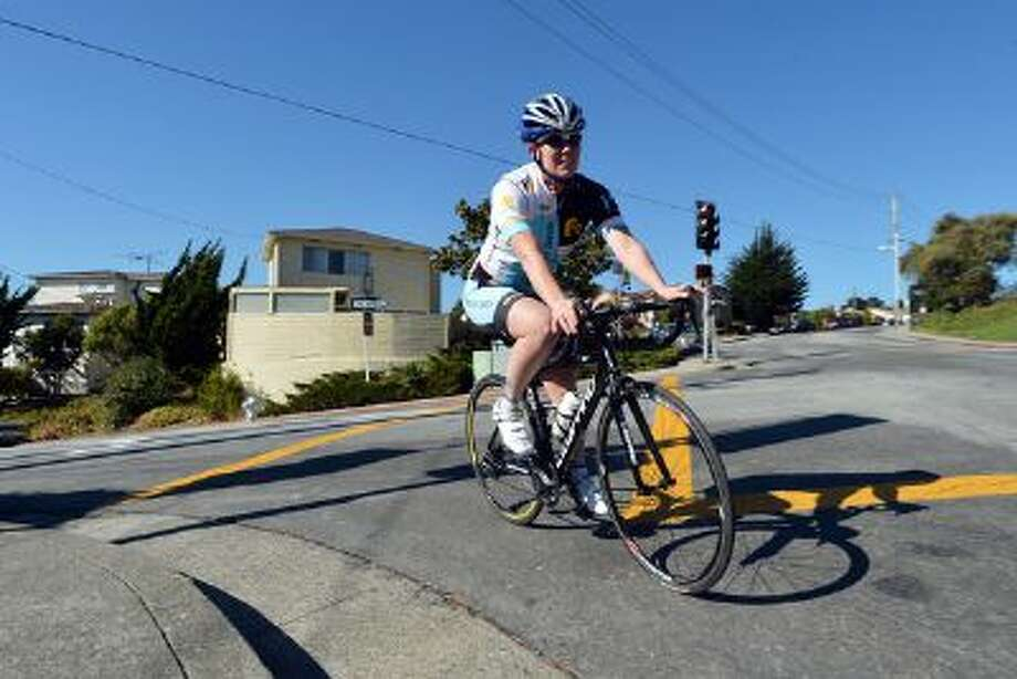 Marissa Axell sets out for an afternoon ride from her home in El Cerrito, Calif. on Thursday, Oct. 31, 2013. Axell is among the athletes employing technology, in her case a cycling computer, to track workouts. Photo: Bay Area News Group / 2012 Bay Area News Group