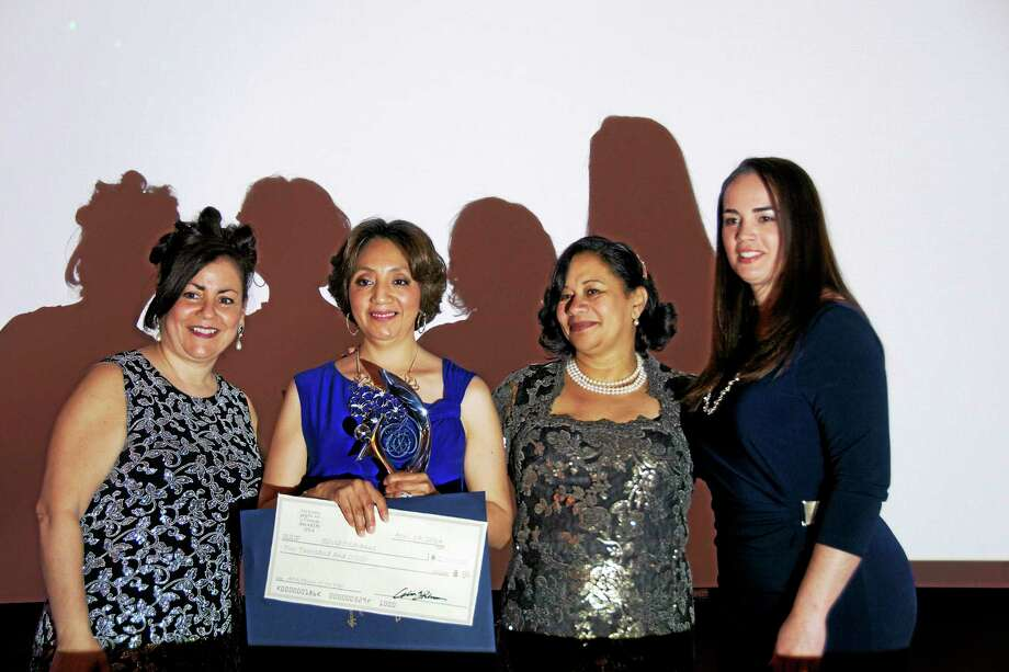 Contributed photo by Laura Marsico From left, Danbury First Lady Phyllis Boughton, left; Silvia Oscranus, American Dream Person of the Year; Celia Bacelar, Tribuna publisher; and attorney Rute Mendes of Ventura, Ribeiro & Smith Attorneys at Law. Photo: Journal Register Co.