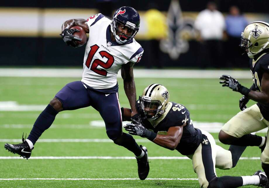 Receiver Bruce Ellington (12), a training-camp addition to the Texans, seems destined to make the roster thanks to a banged-up receiving corps. Photo: Brett Coomer, Staff / © 2017 Houston Chronicle