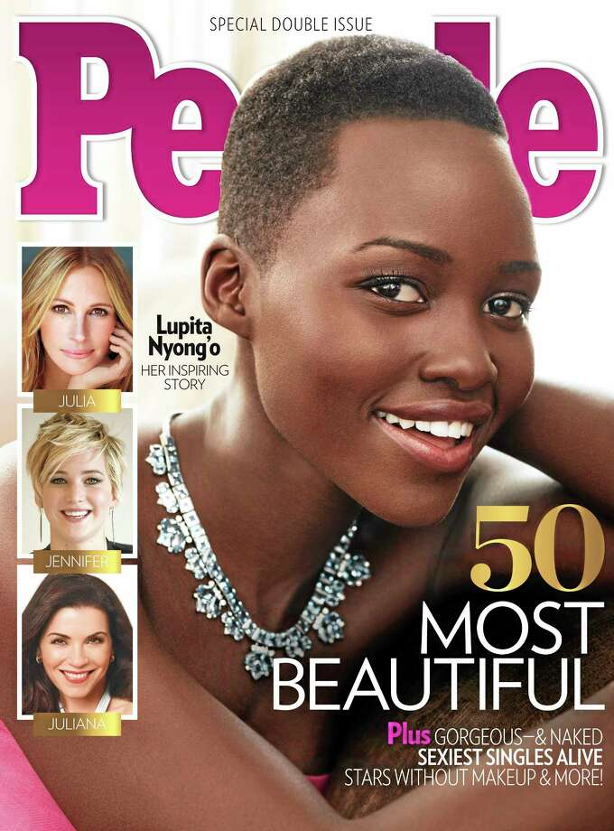 """Associated Press This image provided by People magazine shows the cover of its special """"World's Most Beautiful"""" issue, featuring Lupita Nyong'o. Photo: AP / People"""