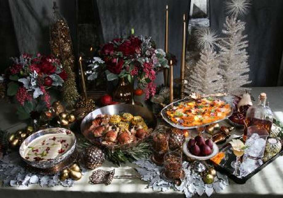 A luxurious display of a rustic dinner party themed around the Partridge in a Pear Tree.