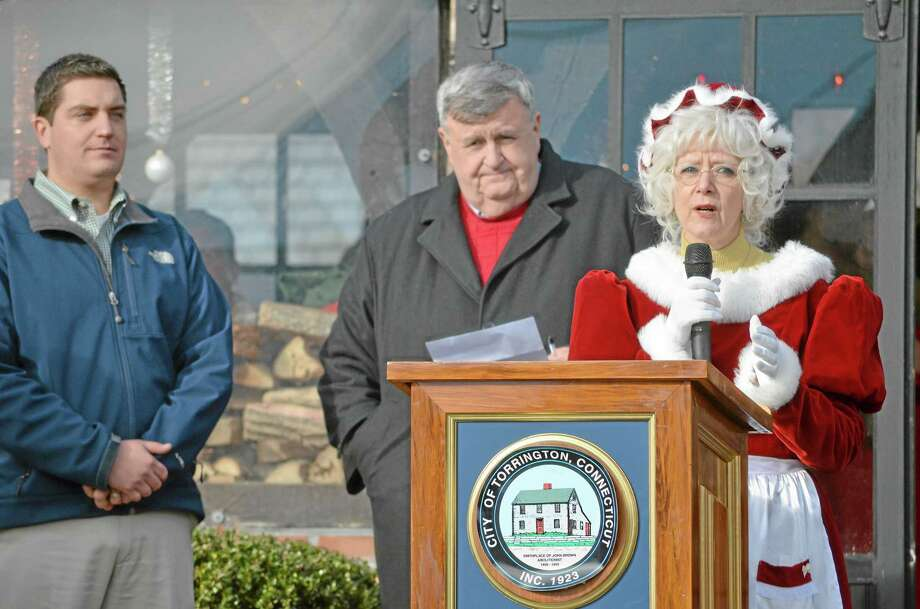 Mrs. Claus helps welcome visitors to Torrington's Christmas Village in December 2012, marking the 65th year that the Chistmas attraction has welcomed visitors to see Santa and all of the other holiday attractions. Photo: Register Citizen