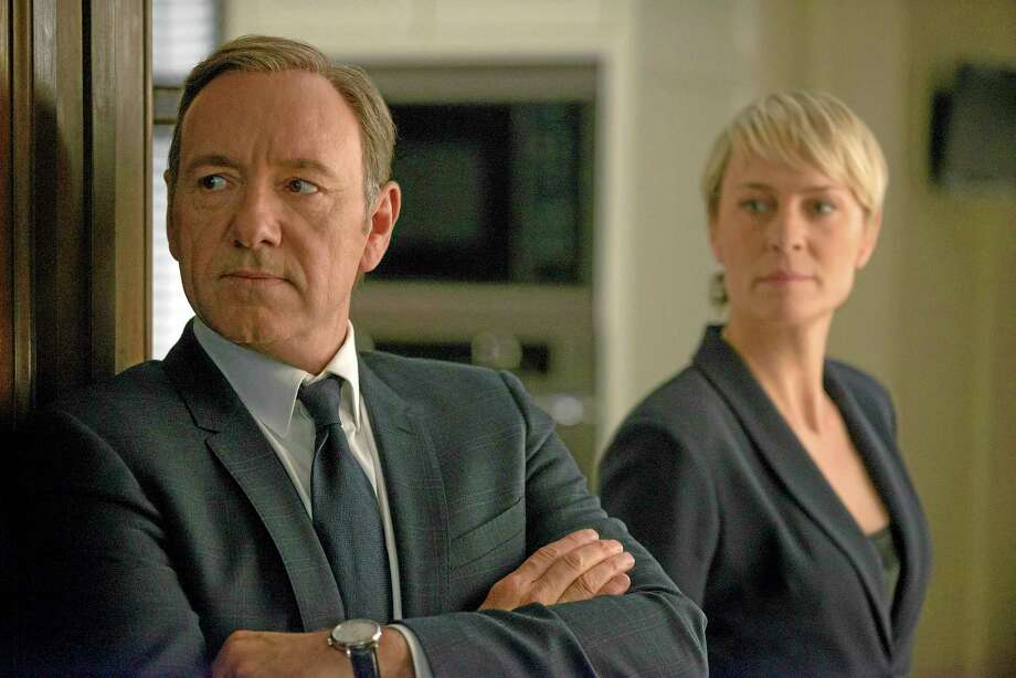 "This image released by Netflix shows Kevin Spacey as Francis Underwood, left, and Robin Wright as Clair Underwood in a scene from ""House of Cards."" Photo: Associated Press  / Netflix"