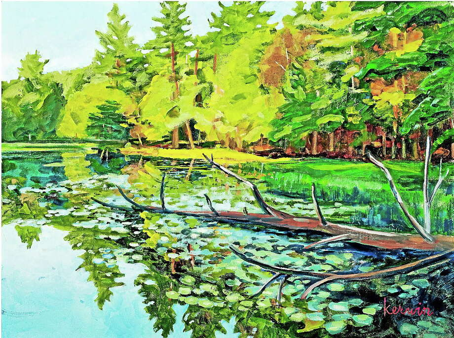 Submitted photos courtesy of Kerwin Kipp Mayers  Paintings by Kerwin Kipp Mayers are the newest exhibit at the Oliver Wolcott Library Gallery, opening at the end of April and continuing through May. Photo: Journal Register Co.