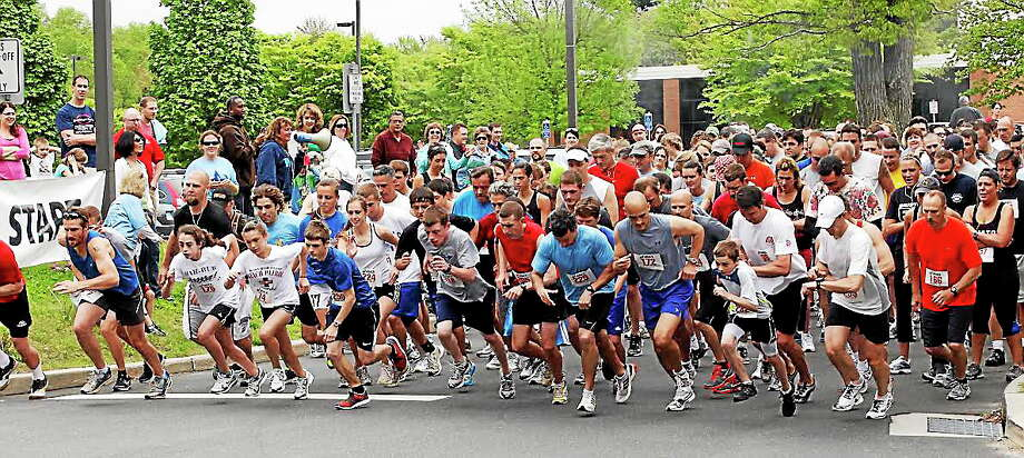 The starting line for the 5K at last year's race. Photo: Contributed Photo