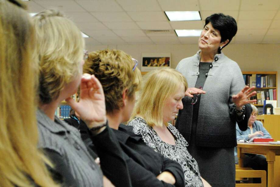 Torrington Schools Superintendent Cheryl Kloczko presents her proposed budget in March. Photo: Register Citizen File Photo