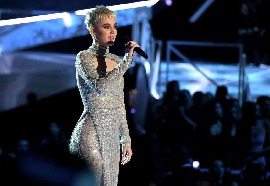 INGLEWOOD, CA - AUGUST 27:  Host Katy Perry speaks onstage during the 2017 MTV Video Music Awards at The Forum on August 27, 2017 in Inglewood, California. Photo: Kevin Winter, Getty Images / 2017 Getty Images