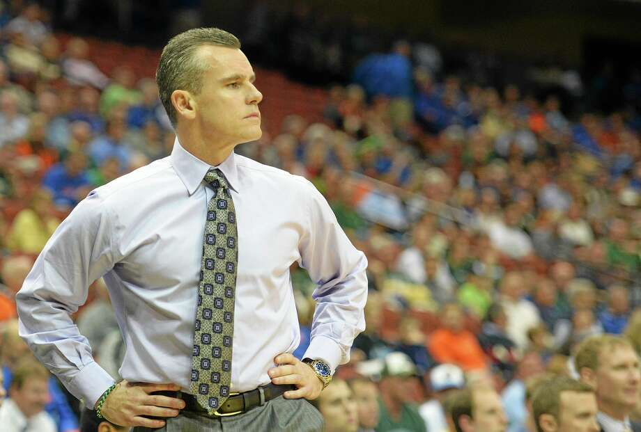 UConn plays host to Florida and coach Billy Donovan on Monday at Gampel Pavilion. Photo: Jake Roth — The Associated Press  / FR159205 AP