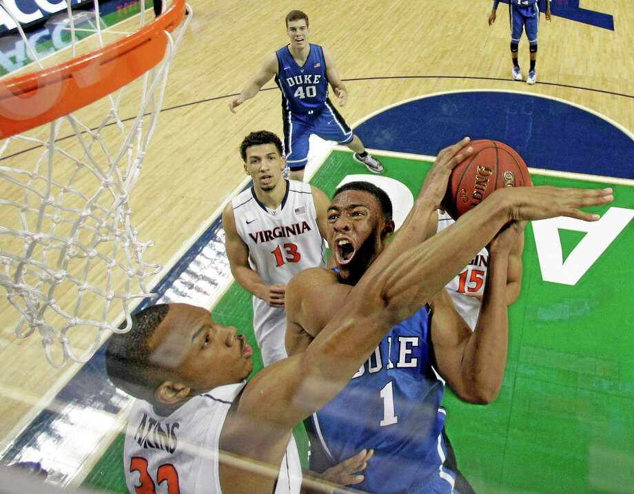 Duke's Jabari Parker announced Thursday he will declare for the NBA draft. Photo: Bob Leverone — The Associated Press File Photo  / FR170480 AP