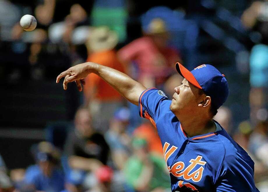 Daisuke Matsuzaka had his contract selected by the New York Mets on Wednesday. Photo: David Goldman — The Associated Press  / AP