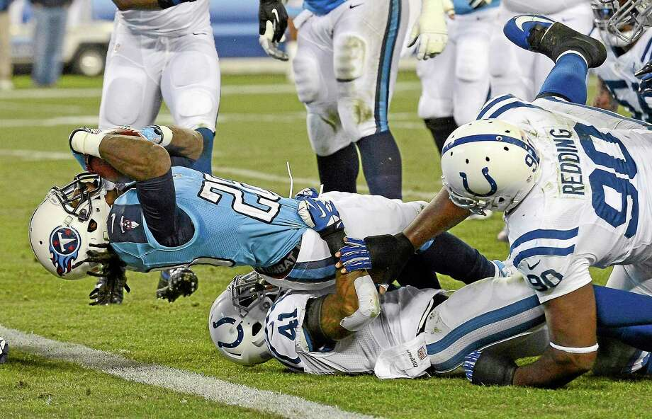 Former Tennessee Titans running back Chris Johnson is reportedly visiting with the New York Jets. Photo: Mark Zaleski — The Associated Press File Photo  / FR170793 AP